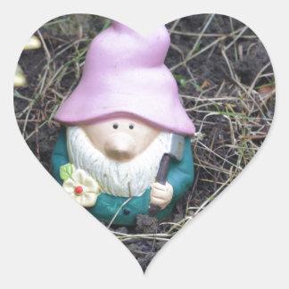 Little Gnome Heart Sticker