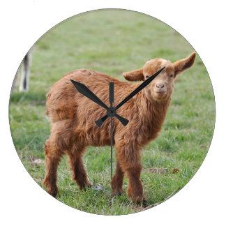 Little Goat ~ kids ~ small goat - by GLINEUR Large Clock