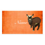 Little Goat Polkadot Business Card/Tags Business Card