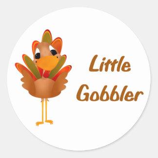 Little Gobbler Classic Round Sticker