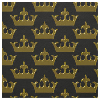 Little Gold Crown, Black-Fabric Fabric