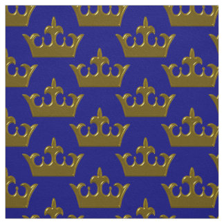 Little Gold Crown, Blue-Fabric Fabric