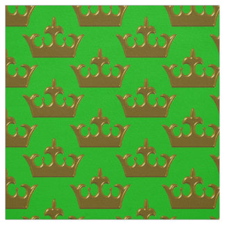 Little Gold Crown, Green-Fabric Fabric
