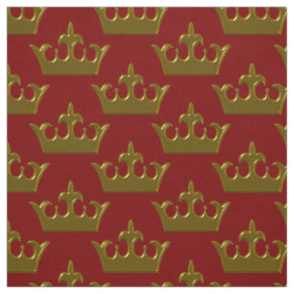 Little Gold Crown, Red-Fabric Fabric