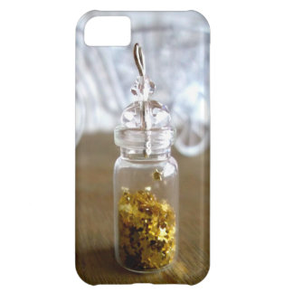 Little gold luck stars in a bottle, iPhone 5 case