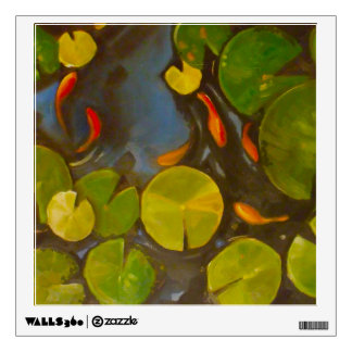 Little Goldfish Koi in Pond with Lily Pads Wall Skins