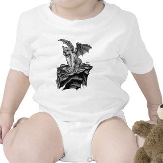 Little Golem Gargoyle - Black and design white Trajes De Bebé