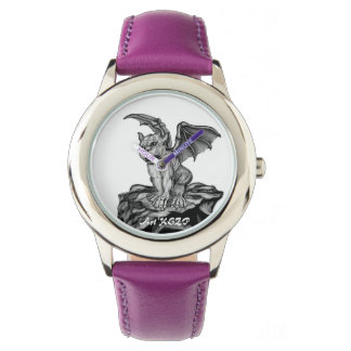 Little Golem Gargoyle, Black and white design Watch