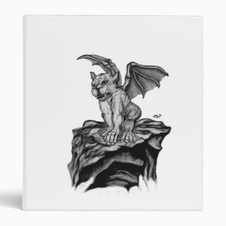 Little Golem Gargoyle black - white design Binder