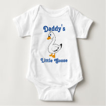 Little Goose Custom Kids Shirt - Blue Text