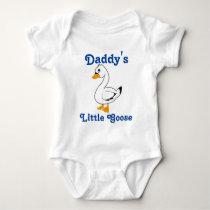 Little Goose Custom Kids Shirt - Blue Text