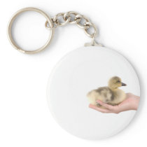 little goose in one hand keychain