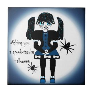 Little Goth Girl Spooktacular Ceramic Tiles