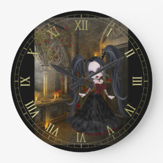 Little Goth Girl Wall Clock