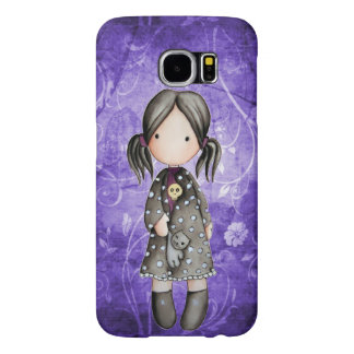 Little Goth Girl with Skull Samsung Galaxy S6 Case