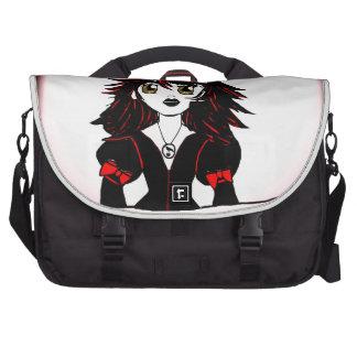 Little Goth Halloween Girl Laptop Bag
