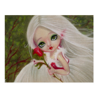 Little Gothic Beauty Red Rose Greeting POSTCARD