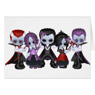 Little Gothic Gang Greeting Card