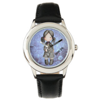 Little Gothic Girl with Skull Watch