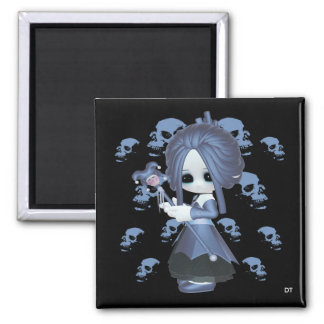 Little Gothic Stacy 2 Inch Square Magnet