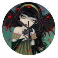 Little Gothic Vampire Fairy Cute Clock
