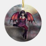 Little Gothic Vampire Fairy Halloween Ornament