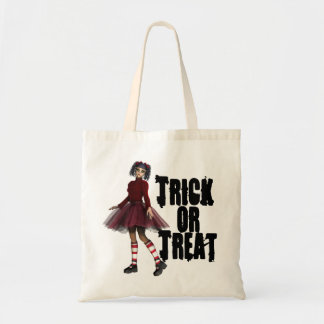 Little Gothy Girl Budget Tote Bag