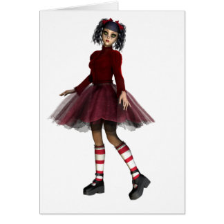 Little Gothy Girl Card