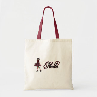 Little Gothy Girl Hello Tote Bag