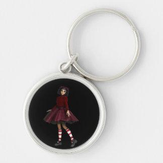 Little Gothy Girl Keychains