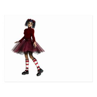 Little Gothy Girl Postcard