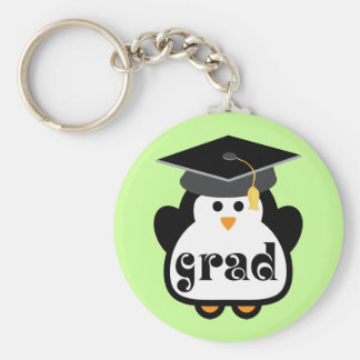 Little Grad Penguin Graduation Gift Basic Round Button Keychain