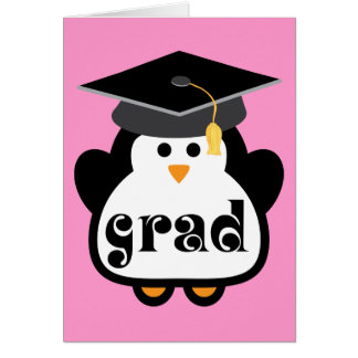 Little Grad Penguin Graduation Gift Greeting Card