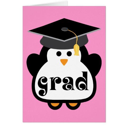 Little Grad Penguin Graduation Gift Card