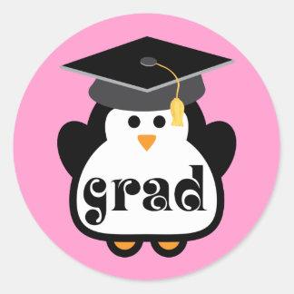 Little Grad Penguin Graduation Gift Classic Round Sticker
