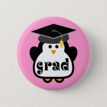 Little Grad Penguin Graduation Gift Pinback Button