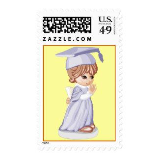 Little Graduate Girl Stamp