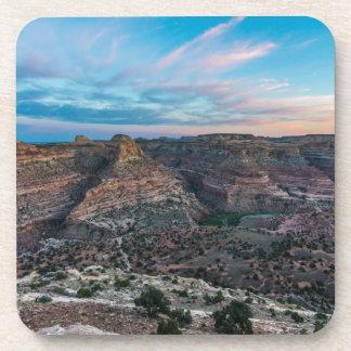 Little Grand Canyon Sunset - Wedge Overlook - Utah Beverage Coaster