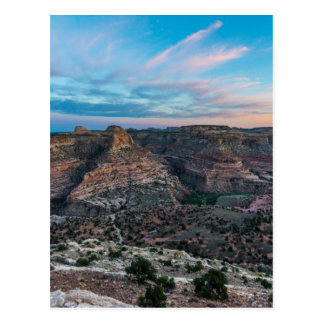 Little Grand Canyon Sunset - Wedge Overlook - Utah Postcard