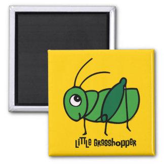 Little Grasshopper 2 Inch Square Magnet