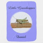 Little Grasshopper Baby Blanket at Zazzle