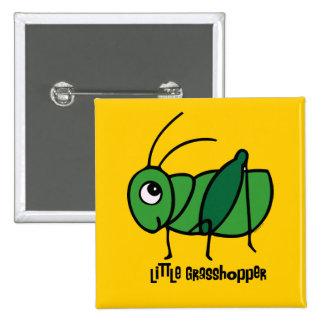 Little Grasshopper 2 Inch Square Button