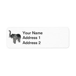 Little Gray Elephant Label