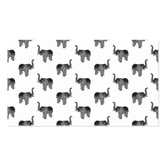 Little Gray Elephant Pattern Business Card Templates