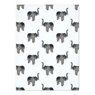 Little Gray Elephant Pattern Card