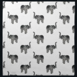 "Little Gray Elephant Pattern Cloth Napkin<br><div class=""desc"">A pattern of little gray elephants facing left and right set on a transparent background.</div>"