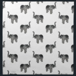 """Little Gray Elephant Pattern Cloth Napkin<br><div class=""""desc"""">A pattern of little gray elephants facing left and right set on a transparent background.</div>"""