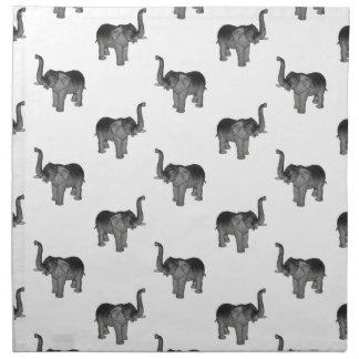 Little Gray Elephant Pattern Cloth Napkin