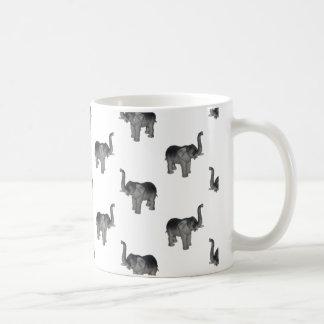 Little Gray Elephant Pattern Coffee Mug