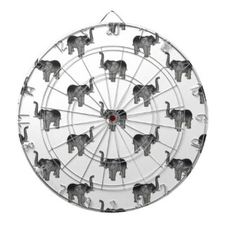 Little Gray Elephant Pattern Dartboard With Darts